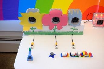Using BOSEbuild sensors to make spring flowers bloom with music